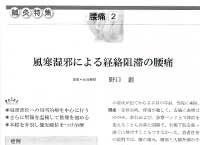 中医臨床 風寒湿邪による経絡阻滞の腰痛